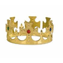 Corona De Reina O Rey Plastica Dorada