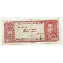 Billete 100 Bolivianos Reposicion P 163 Vf