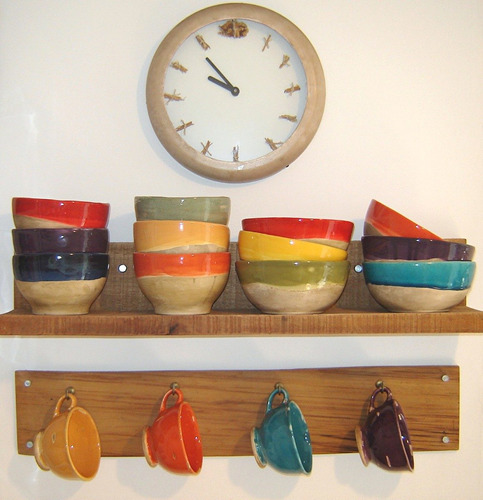 Vajilla de cer mica artesanal pintada a mano tazas a ars for Vajilla ceramica