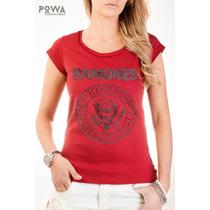 Remera Powa 100% Algodón Con Estampa Ramones