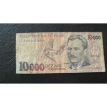 Antiguo Billete Brasil 10000 Cruzeiros Serie 2.7