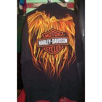 Camisa Hawaiana Importada Harley Davidson Motos C 056