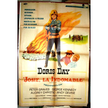Doris Day !!! Afiche Cine Orig 1967 Josie La Indomable N236