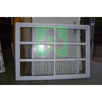 Ventana Aluminio Blanco Repartido Horizontal 120x110 Puertas
