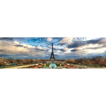 Cuadro Torre Eiffel En Tela Canvas Con Bastidor 135x40