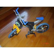 Bicicleta Max Steel Con Todos Sus Accesorios Impecable