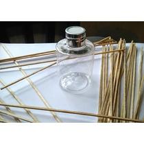 Envase Frasco Pet Cristal Difusor Aromático X 10 + Varillas