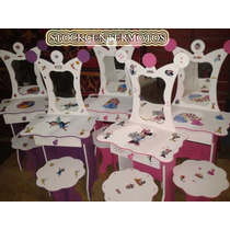 Tocador Infantil Para Nenas Minnie Barbi Princesas