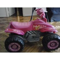Cuatriciclo Barbie A Bateria