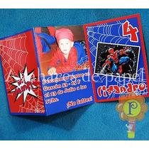Spiderman Hombre Araña Foto Invitaciones Tarjetas Cumpleaños