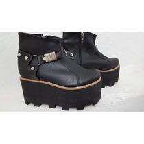 Botitas Botinetas Calzado Mujer Con Plataforma Stampa Woman