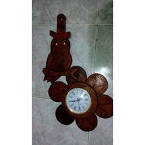Reloj De Algarrobo Artesanal