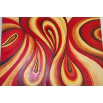 Pintura Cuadro Decorat Abstracto Acril Y Oleo