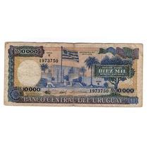 Argentvs Uruguay Billete De 10000 Nuevos Pesos 1988 - P#67b