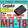Cargador Nikon Mh-18a D50 D70 D80 D90 Original !!! En-el3c