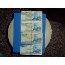 Lote De 4 Billetes Antiguos De 5.000 Pesos Serie B