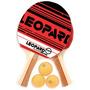 Set De Ping Pong 2 Paletas/3 Pelotas Leopard Art Pp110
