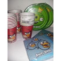Combo Cotillón Importado Angry Birds Platos + Vasos