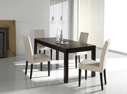 Mesa asia laqueada comedor moderna madera 180 x 80 cm for Mesa moderna