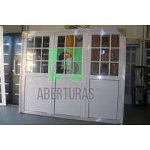 Aberturas: Porton Aluminio 3 Hojas De Abrir 1/2 Rep 240x200
