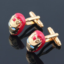 Gemelos Iron Man Geek Cuff Links Retro Heroe Marvel Dc
