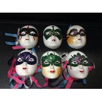Mascara Mini De Cerámica Esmaltada X 6 Unidades