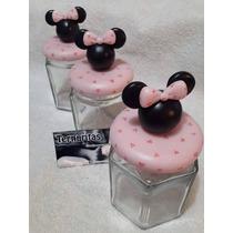 Frascos Golosineros Mickey Y Minnie Porcelana Fria!!!