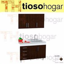 Muebles Cocina 140 120 Bajo Mesada + Alacena Wengue O Blanco