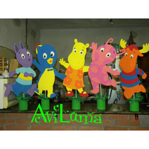Backyardigans Con Base Xa Decorar Tu Mesa Dulce O Pared