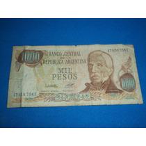 Billete Antiguo De 1.000 Pesos Lopez - Diz Serie F