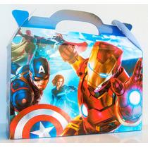Cajita Bolsita Avengers / Los Vengadores Souvenirs Pack X30