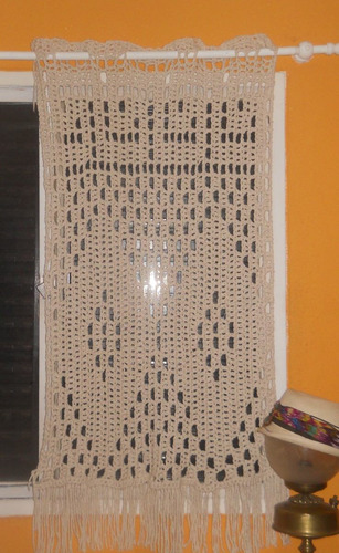 Cortinas De Baño Tejidas Al Crochet:Cortina O Visillo Tejida Al Crochet (Otros) a ARS 250 en PrecioLandia