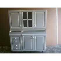 Mueble Bajo Mesada Y Alacena Pint, Blanco 1.20 Mts