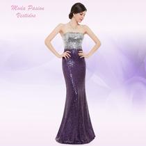 Vestido Sirena Lentejuelas Paillete Importado Moda Pasión