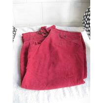 Pantalón Corderoy Capri Tipo Babucha Color Fucsia