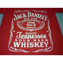 Remera Jack Daniels Roja
