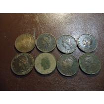 Lote 8 Monedas 2 Centavos De Patacon Del 1884 A 1894