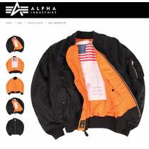 Campera Alpha Industries Ma1 Blood Shit Aviadora Original