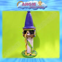 Castillo Con Rapunzel Torre Tangled Enredados Porcelana Fria