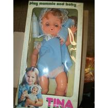 Antigua Muñeca Tina Con Bebé.40cm De Altura