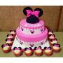 Tortas Decoradas Infantiles Bautism 3kg+piso Minnie Mickey