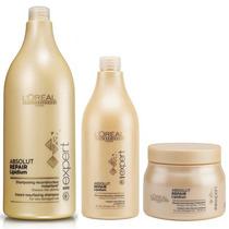 Kit Shampoo + Acondicionador + Mascara Loreal Absolut Repair