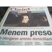 Menem Preso Diario Clarin 8 Junio 2001 Zz
