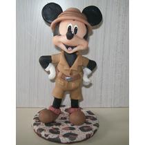 Mickey Safari Adorno De Torta Porcelana Fria En Stock