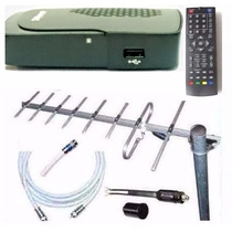 Kit Completo Tv Digital Tda Antena Ext Cables Decodificador