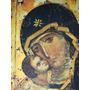 Cuadro Virgen Griego Réplica En Madera. Arte Religioso