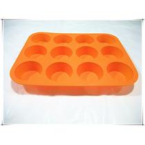 Molde Para Muffins/cupcakes Silicona Redondox12