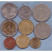 Tailandia 1950 - 2008 * 9 Monedas * Bimetalica *