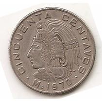 México Moneda De 50 Centavos Año1970 Km 452 Cupro Niquel