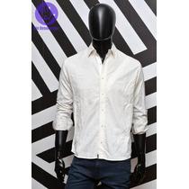 Camisa Blanca De Noche Con Detalles Discontinua - Outlet Rel